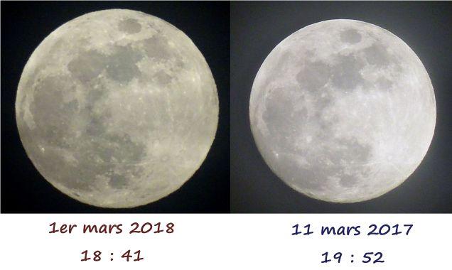 lunes mars 2017 et 2018