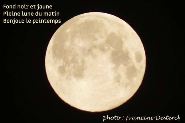 haiku sur photo de lune